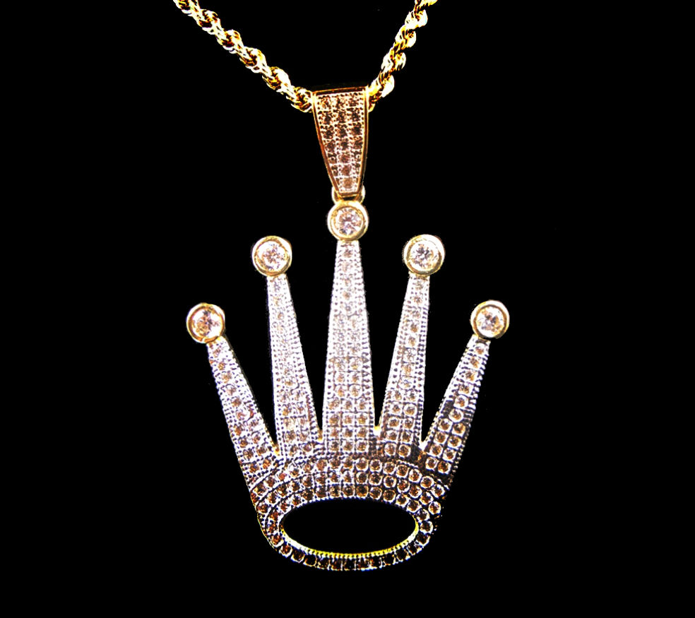 with necklace necklaces sapphire gemstone pendant gold crown diamonds